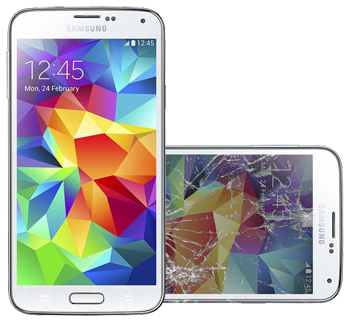 Samsung S5 Display Glas Defekt
