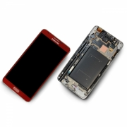 Samsung Galaxy Note 3 LTE N9005 rot/red Display-Modul Einheit Rahmen