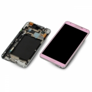 Samsung Galaxy Note 3 LTE N9005 pink Display-Modul Einheit Rahmen