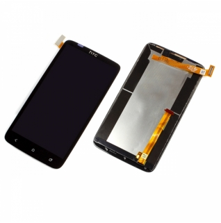 HTC One X Digitizer Touchscreen Glas Schwarz
