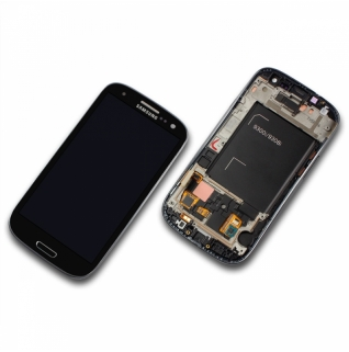 Samsung Galaxy S3 Neo GT-i9301 schwarz/black Display-Modul Touchscreen Digitizer mit Rahmen