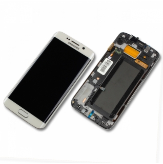 Samsung Galaxy S6 Edge SM-G925F weiß/white Display-Modul + Digitizer