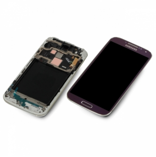 Samsung Galaxy S4 LTE GT-i9505 lila purple Display-Modul + Digitizer Rahmen