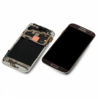 Samsung Galaxy S4 LTE Plus GT-i9506 braun/brown Display-Modul + Digitizer Rahmen