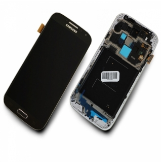 Samsung Galaxy S4 LTE GT-i9505 tiefschwarz/deep black Display-Modul + Digitizer Rahmen