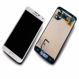 Samsung Galaxy S5 SM-G900F wei�/white Display-Modul + Digitizer