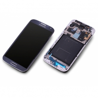 Samsung Galaxy S4 LTE GT-i9505 schwarz/black mist Display-Modul + Digitizer Rahmen