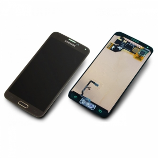 Samsung Galaxy S5 Mini SM-G800F gold Display-Modul + Digitizer