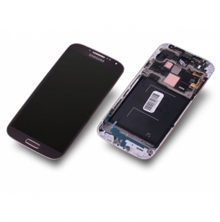 Samsung Galaxy S4 LTE GT-i9505 braun-gold/brown-gold Display-Modul + Digitizer Rahmen