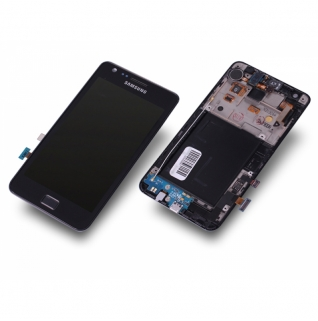 Samsung Galaxy S2 GT-I9100 schwarz/black Display-Modul