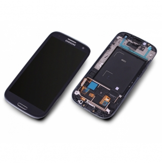 Samsung Galaxy S3 GT-i9300 schwarz/black Display-Modul Touchscreen Digitizer mit Rahmen