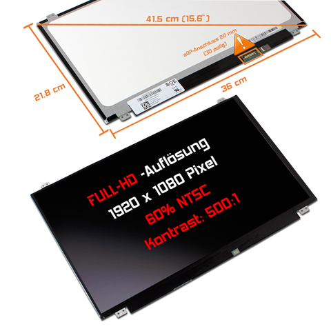 Dell LED Display (matt) 15,6 Slim Full HD Latitude E5570