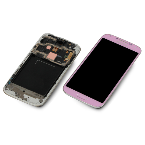 Samsung Galaxy S4 LTE GT-i9505 rosa pink Display-Modul + Digitizer Rahmen