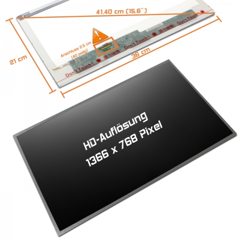LED Display (matt) 15,6 passend für HP Presario CQ62-A16SZ (WR527EA#UUZ)