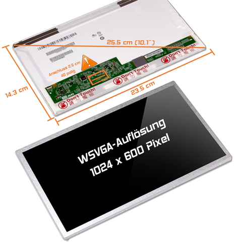 LED Display (glossy) 10,1 passend für HP Mini 110C-1190EI (VT904EA#ACQ)