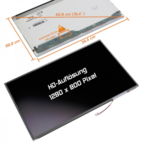 LCD Display (matt) 15,4 passend für Toshiba Satellite A100-442 PSAANE-045032GR