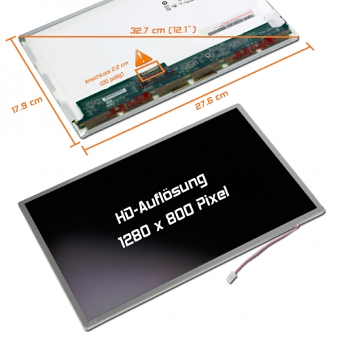 LCD Display (matt) 12,1 passend für B121EW03 V.4