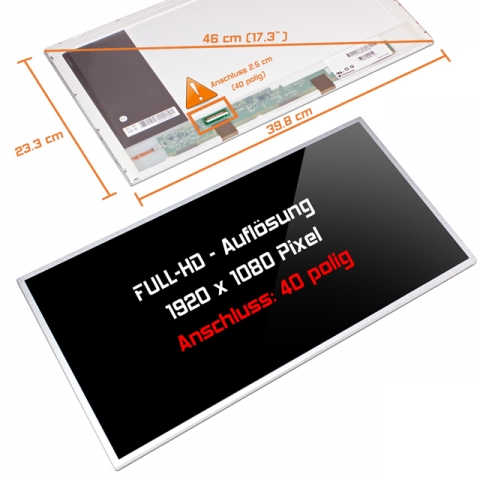 LED Display (glossy) 17,3 HSD173PUW1-A
