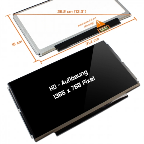LED Display (glossy) 13,3 CLAA133WB01A