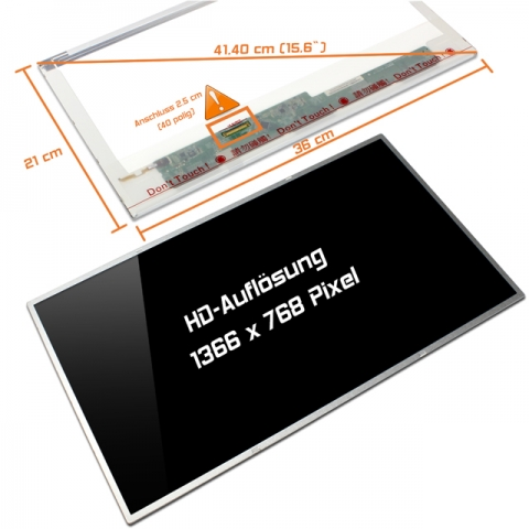 LED Display (glossy) 15,6 B156XW02 V5
