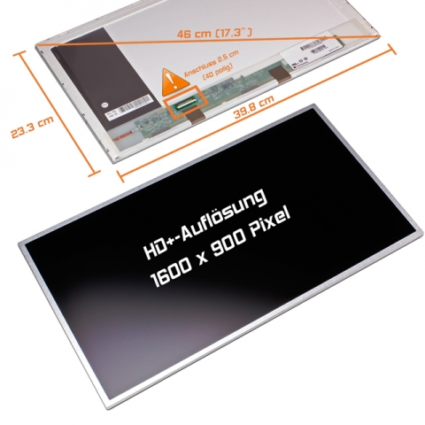 LED Display (matt) 17,3 passend für Toshiba Satellite L550-1CF