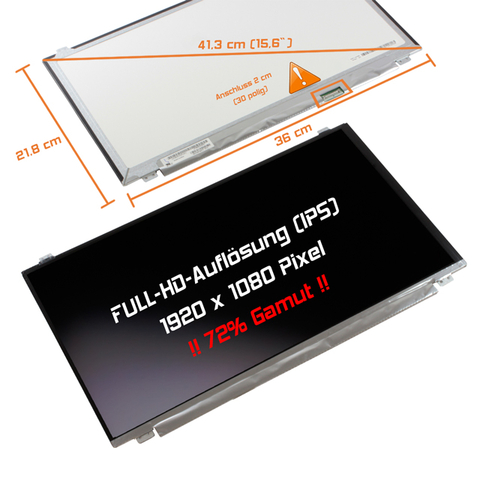 LED Display (matt) 15,6 passend für Fujitsu Lifebook E554