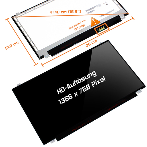 LED Display (glossy) 15,6 passend für Lenovo Ideapad B50-MCA2ZMH